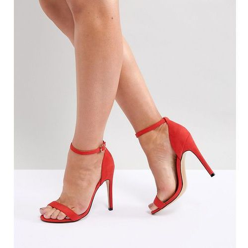 wide fit barely there heeled sandals - orange marki Truffle collection