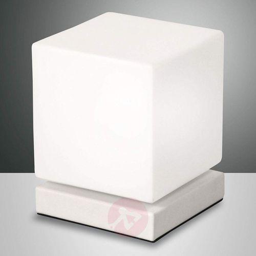 Fabas luce Ściemniacz dotyk., lampa stołowa led brenta, biała