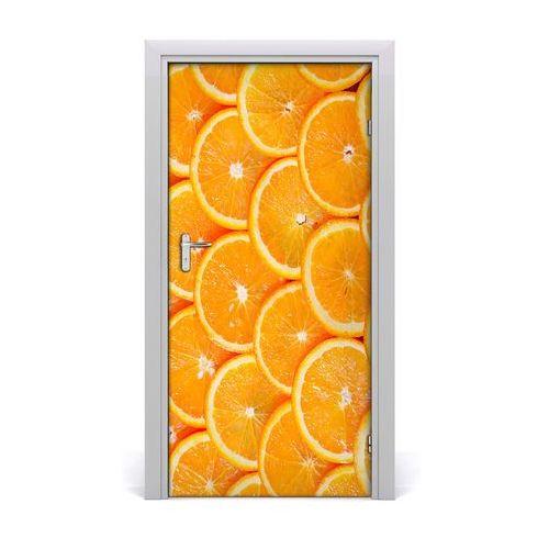 Naklejka na drzwi samoprzylepna Plastry pomarańczy