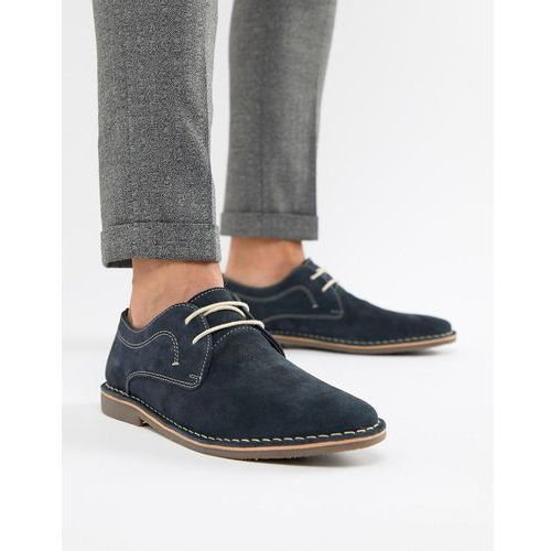 Red tape yuma desert brogue shoe in navy suede - navy