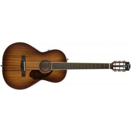 Fender PM-2E Parlor Limited, Ovangkol Fingerboard, Aged Cognac Burst w/case gitara elektroakustyczna
