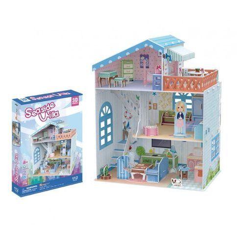 Puzzle 3d domek dla lalek seaside villa marki Cubicfun