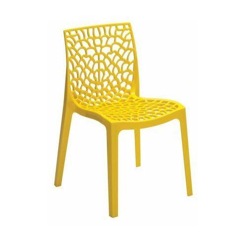 Krzesło ogrodowe GRUVYER plastikowe żółte
