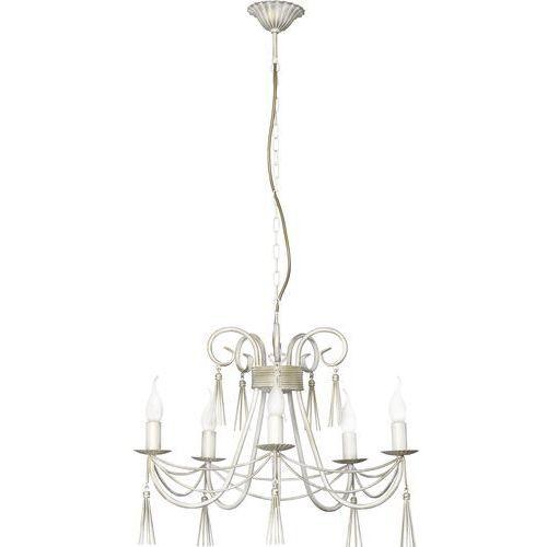 Lampa wisząca Nowodvorski Twist 4984 świecznikowa zwis oprawa żyrandol 5x60W E14 biała, 4984