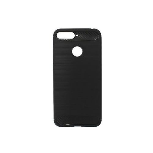 Huawei Y6 Prime (2018) - etui na telefon Forcell Carbon - czarny, kolor czarny