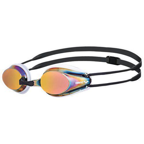 arena Tracks Mirror Okulary pływackie biały/czarny Okulary do pływania