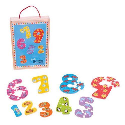 Bigjigs toys Puzzle cyferki od 1 do 9 (0691621195079)