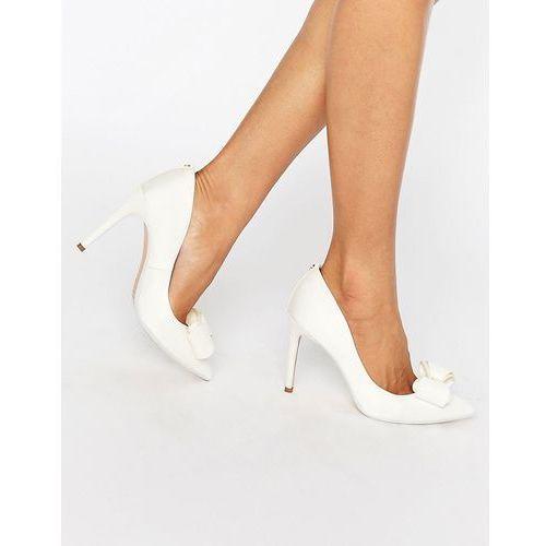 Ted Baker Azeline Tie The Knot Ivory Bow Court Shoes - Cream z kategorii Pozostałe
