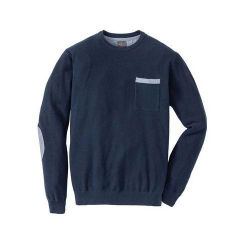 Sweter Regular Fit bonprix ciemnoniebieski, bawełna