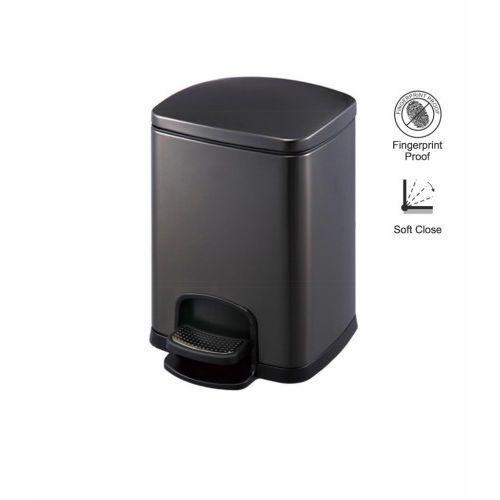 kosz pedałowy premium, prostokątny, 8l / czarny 20.20308 -b marki Stella