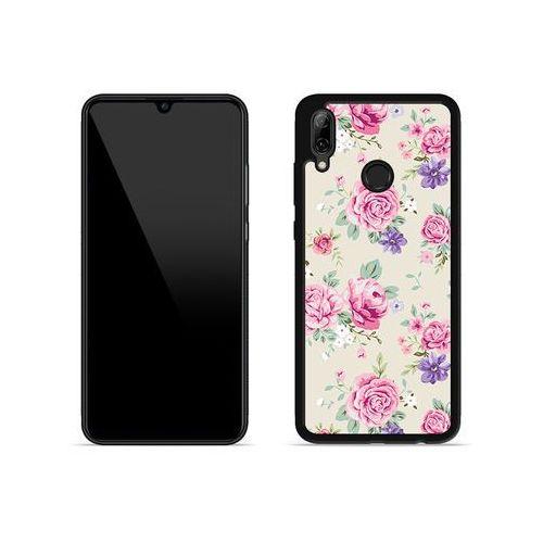 Huawei p smart (2019) - etui na telefon aluminum fantastic - pastelowe różyczki marki Etuo aluminum fantastic