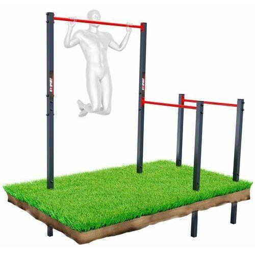 K-sport Drążek+poręcz do podciągania zewnętrzny ogrodowy-street workout ksoz003 (5907618100588)