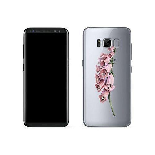 Samsung Galaxy S8 - etui na telefon Crystal Design - Różowa roślina, kolor różowy