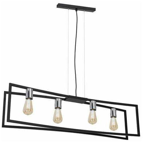 Luminex Tunja 1762 lampa wisząca zwis 4x60W E27 czarna/srebrna