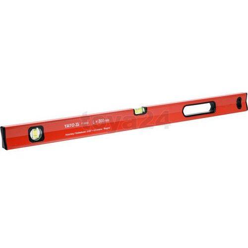 Poziomnica magnetyczna 800 mm, profil aluminiowy, lakierowany, dwie yt-30062 - zyskaj rabat 30 zł marki Yato