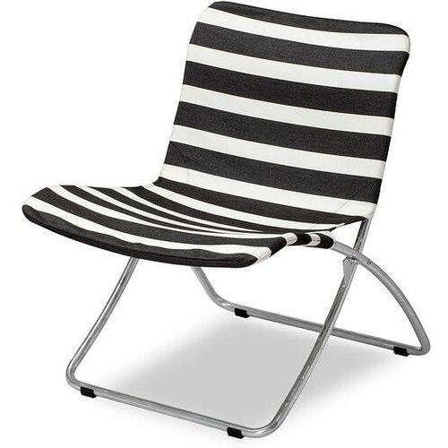 Krzesło plażowe lise czarne pasy marki Skagerak