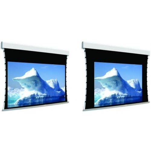 Ekran ścienny elektrycznie rozwijany Biformat 275x294cm, VisionWhiteBE