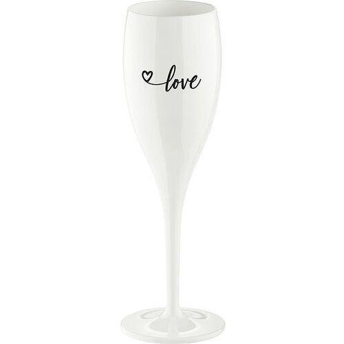 Kieliszek do szampana cheers z napisem love 2.0 marki Koziol