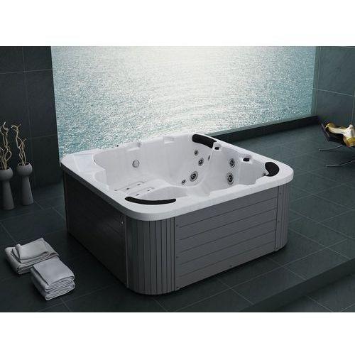 Beliani Zewnętrzne spa - ogrodowe - akryl i drewno - kolor srebrny sanremo (7081452111554)