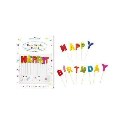 Świeczki pikery napis - Happy Birthday (5201184091913)
