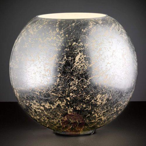 Fara - szklana lampa stołowa, srebrna kula (4003474332031)