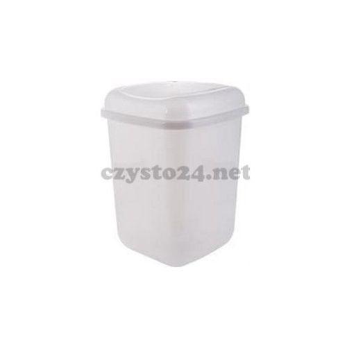 Kosz z uchylną pokrywą - plastikowy 12L