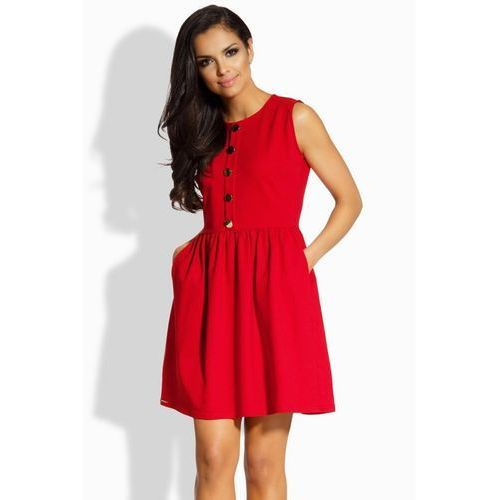Sukienka Model L203 Red, kolor czerwony