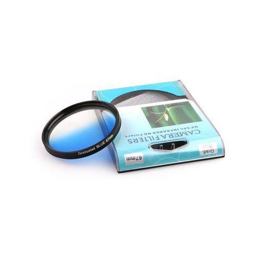 Foxfoto Filtr niebieski połówkowy 55mm