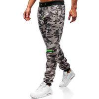 J.style Spodnie męskie dresowe joggery szare denley 55028