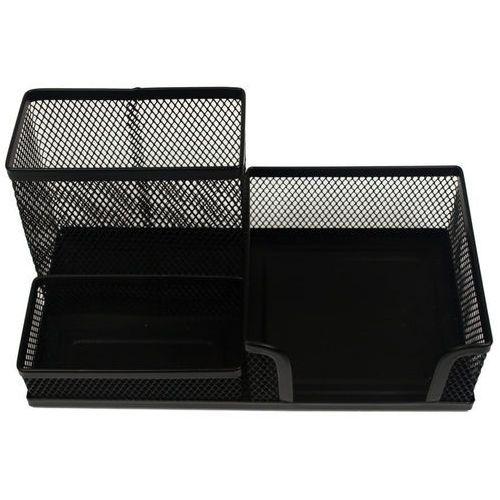 Przybornik na biurko czarny(3 komorowy) (m-851b) marki Titanum