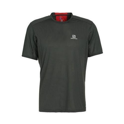 trail runner tshirt z nadrukiem urban chic/fiery red marki Salomon