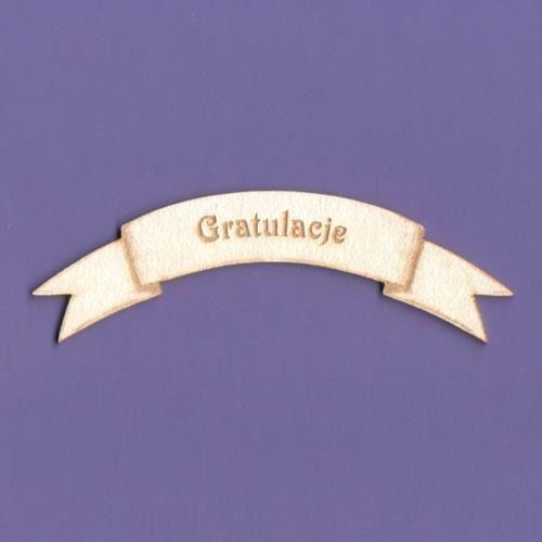 Napis okolicznościowy - gratulacje - gratu marki Crafty moly