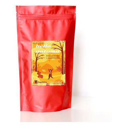 Hello autumn! czerwony - zestaw 10 herbat wysokiej jakości z zaparzaczem, 10x saszetka 5g - prezent podarunek marki Cup&you cup and you