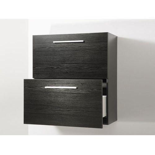 Meble łazienkowe - szafka wisząca łazienkowa czarna - MURCIA (7081459781859)