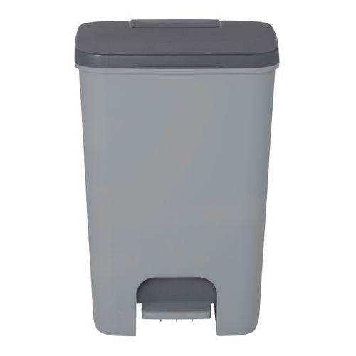 Kosz na śmieci Cooke&Lewis plastikowy z pedałem 40 l szary (3663602791829)