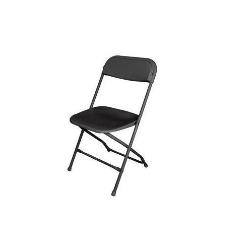 Krzesło składane | białe lub czarne | 440x480x(H)800mm | 10szt., kolor czarny