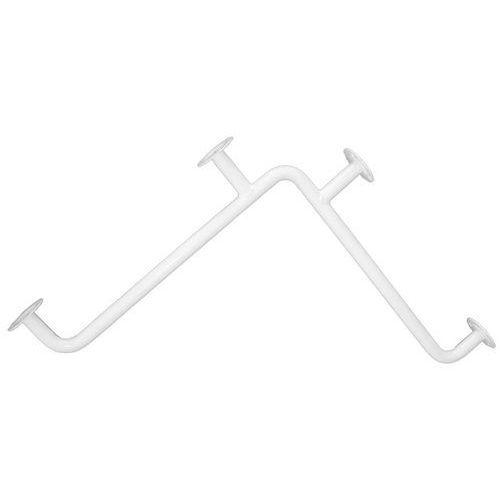 Uchwyt dla niepełnosprawnych łazienkowy ⌀ 25 600 x 600 mm stal biała (5901764291879)