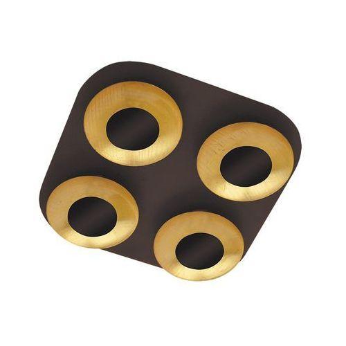 Rabalux Plafon brigitte 2556 lampa sufitowa 4x5w led brązowy / złoty (5998250325569)