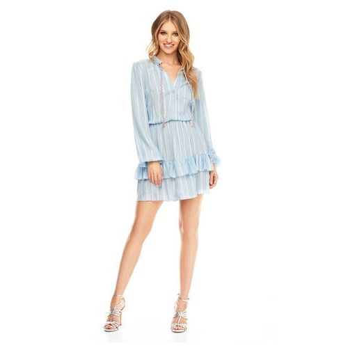 Sugarfree Sukienka sabia błękitna w paski