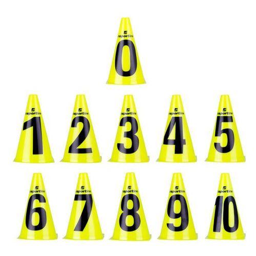 Insportline Zestaw pachołki treningowe numeric 23 cm 11 sztuk (8596084032058)