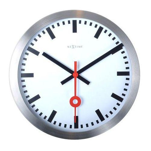 Zegar ścienny 19 cm Nextime Station biały, kolor Zegar