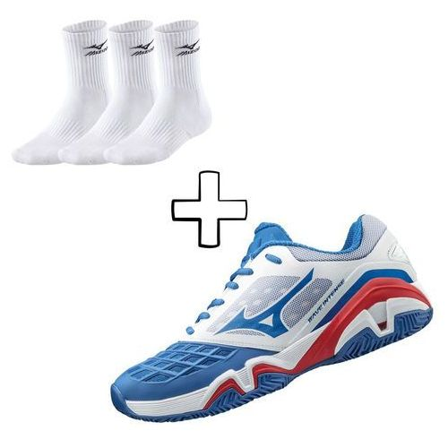 Mizuno  wave intense tour 3 cc - white/blue/red (5054698162644)