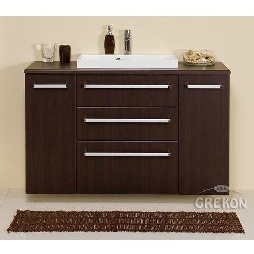 Szafka łazienkowa z umywalką 120/39/c3/liz fokus wenge mat marki Gante