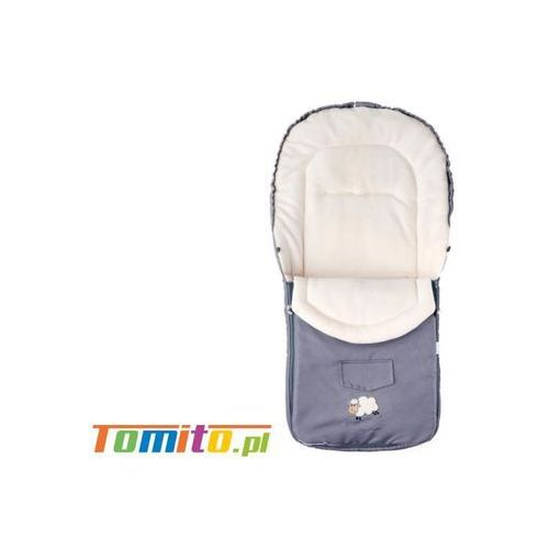 Śpiworek do wózka kombinezon zimowy polarowy Light Grey, kolor szary