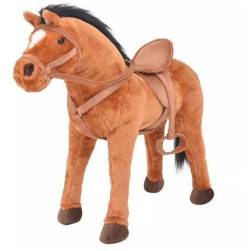 Vidaxl pluszowy konik dziecięcy, stojący, kolor brązowy
