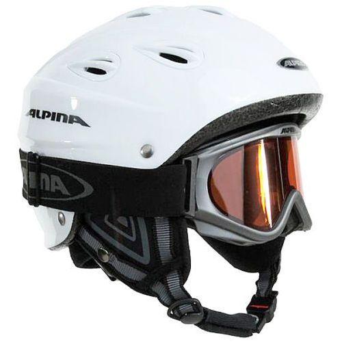 Kask narciarski junta set r. 57-61 cm + golge alpina freespirit marki Alpina