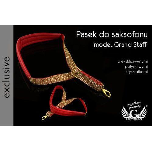 Grawernia.pl - grawerowanie i wycinanie laserem Pasek do saksofonu czerwono-złoty - model grand staff - wersja exclusive - pds25. Najniższe ceny, najlepsze promocje w sklepach, opinie.