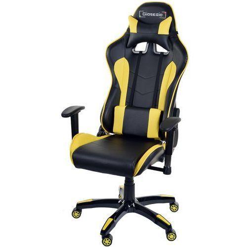Giosedio Fotel biurowy czarno-żółty,model gsa413 (5902751541731)