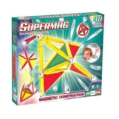 SUPERMAG Tags Primary Colors Klocki magnetyczne 48 elementów 3+