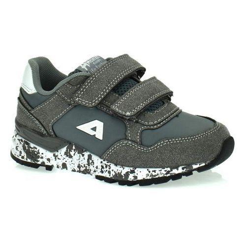 Sportowe buty dla dzieci bs 12/19 szary - szary marki American club
